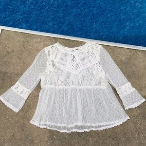 Free People Lace Crotchet Top